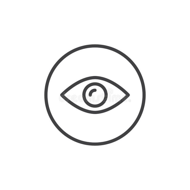 Ligne icône d'oeil illustration stock