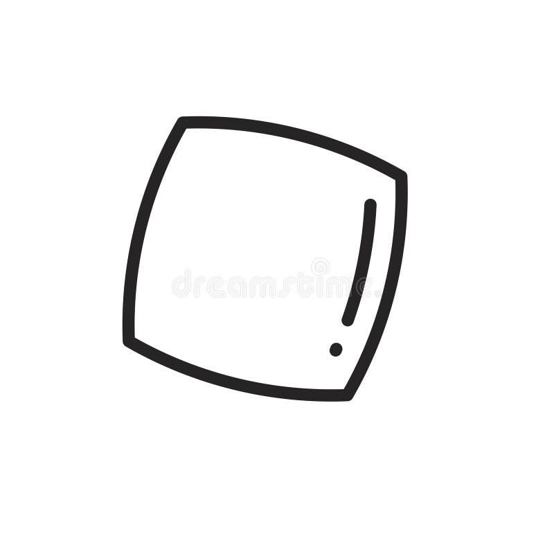 Ligne icône d'oreiller illustration stock