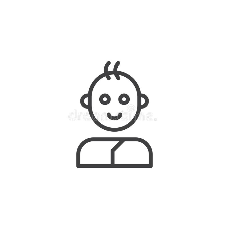 Ligne icône de bébé garçon illustration de vecteur