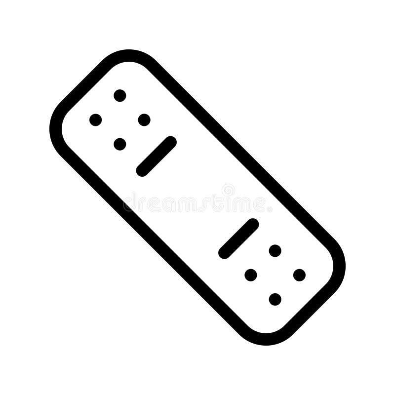 Ligne icône de bandage de vecteur illustration libre de droits