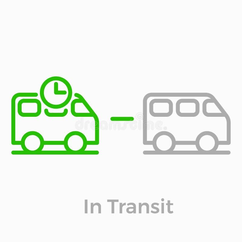 Ligne icône de boutique de Web de logistique de vecteur de la livraison d'ordre illustration stock