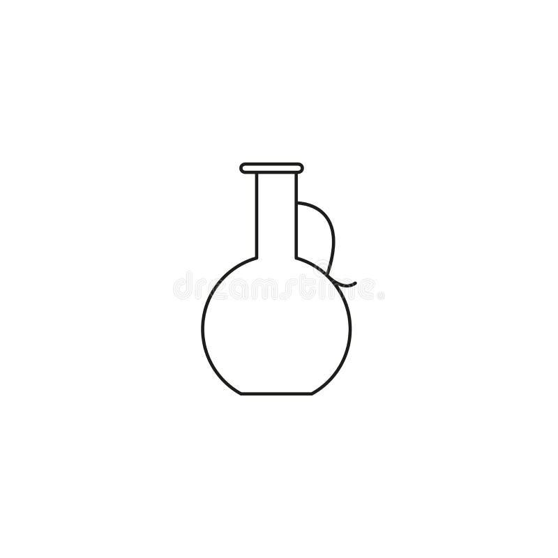 ligne icône de broc illustration stock