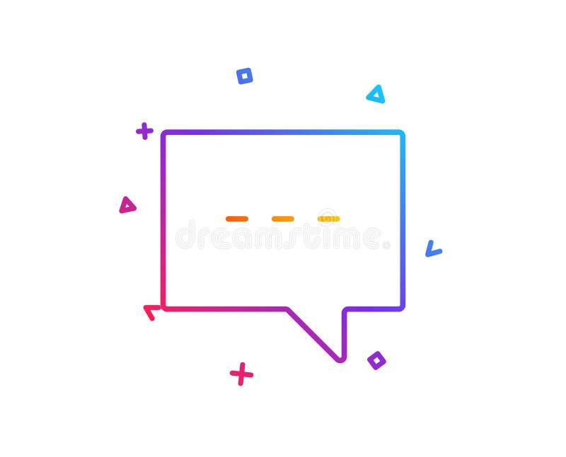 Ligne icône de causerie Signe de bulle de la parole Vecteur illustration stock