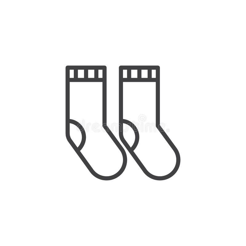 Ligne icône de chaussettes illustration libre de droits
