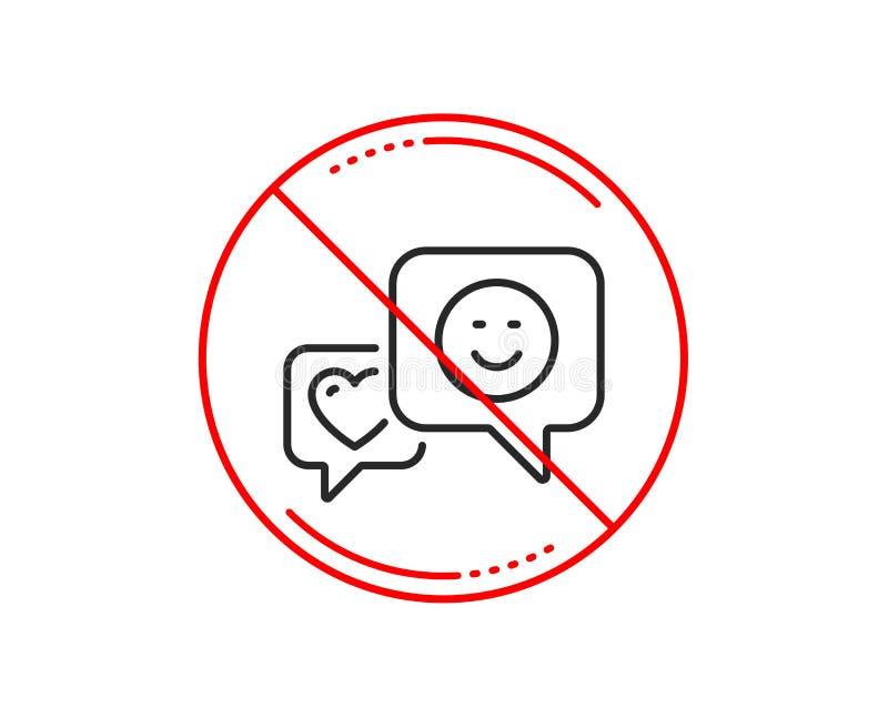 Ligne icône de coeur et de sourire Favori comme le signe Vecteur illustration libre de droits