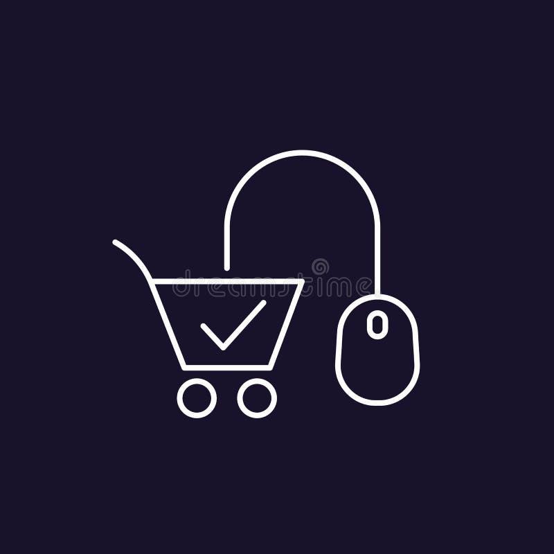 Ligne icône de commerce électronique illustration libre de droits