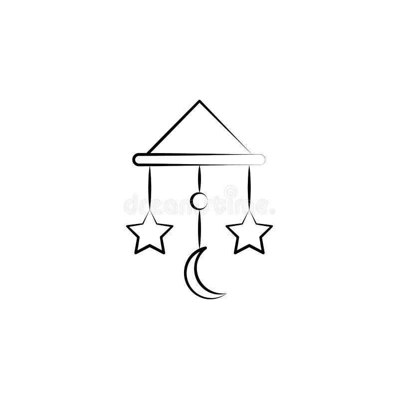 Ligne icône de concept de jouet de berceuse Illustration simple d'élément Conception de symbole d'ensemble de concept de jouet de illustration libre de droits