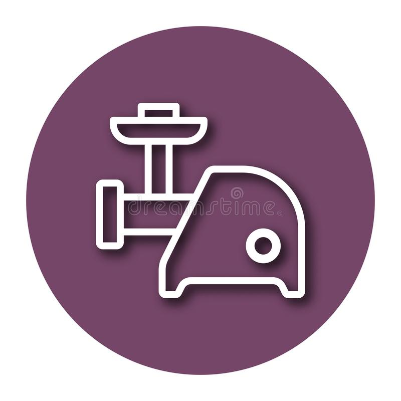 Ligne icône de couperet de viande illustration de vecteur