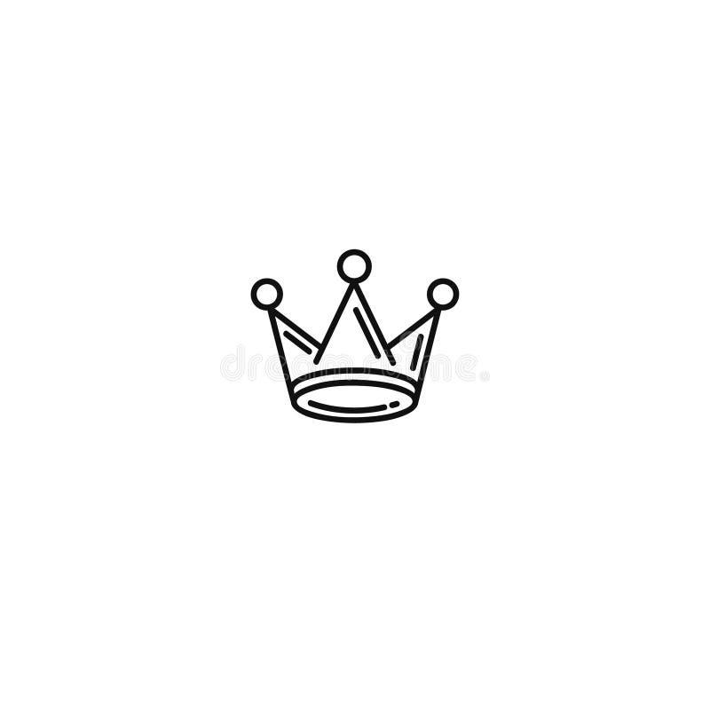 Ligne icône de couronne Pictogramme linéaire de style d'isolement sur le fond blanc illustration de vecteur