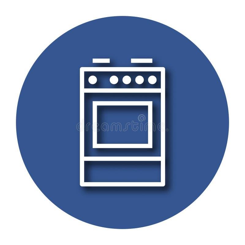 Ligne icône de cuiseur illustration libre de droits