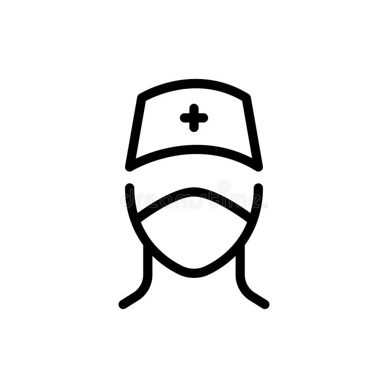 Ligne icône de docteur illustration de vecteur