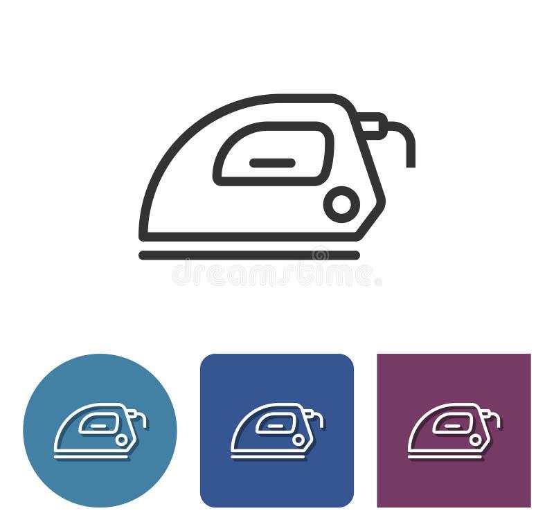Ligne icône de fer électrique illustration libre de droits