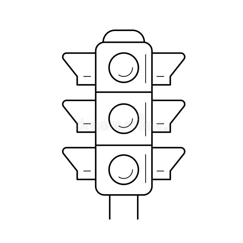 Ligne icône de feu de signalisation illustration libre de droits