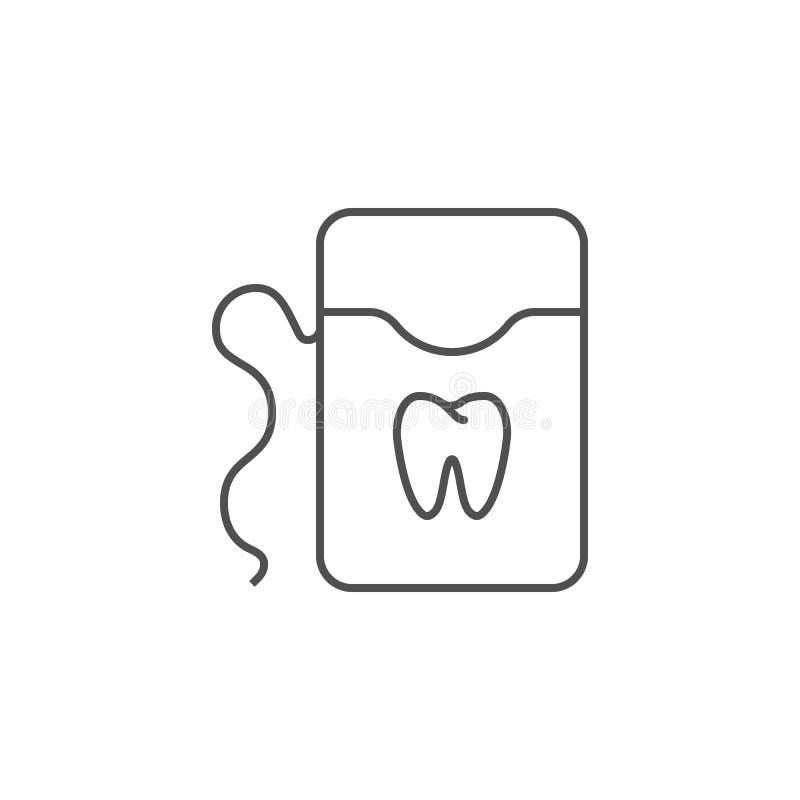 Ligne icône de fil dentaire illustration de vecteur