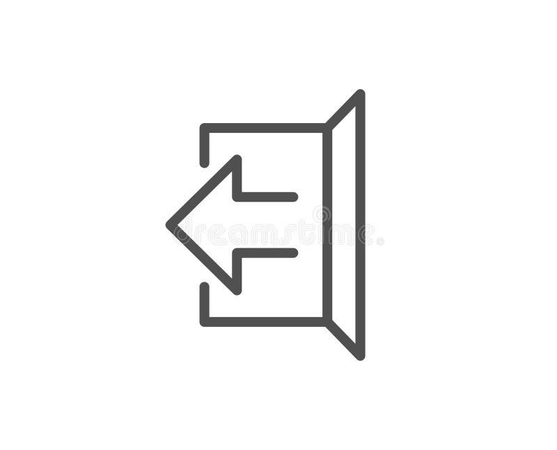 Ligne icône de flèche de déconnexion Signez  illustration de vecteur