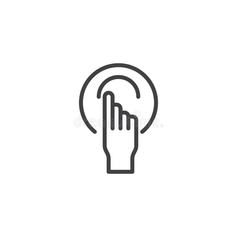 Ligne icône de geste de main illustration libre de droits