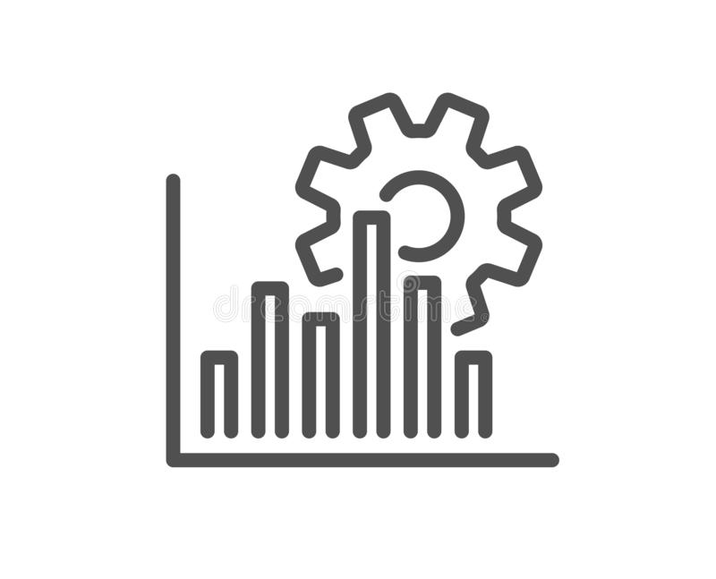 Ligne icône de graphique de Seo Signe d'optimisation de moteur de recherche Vecteur illustration stock