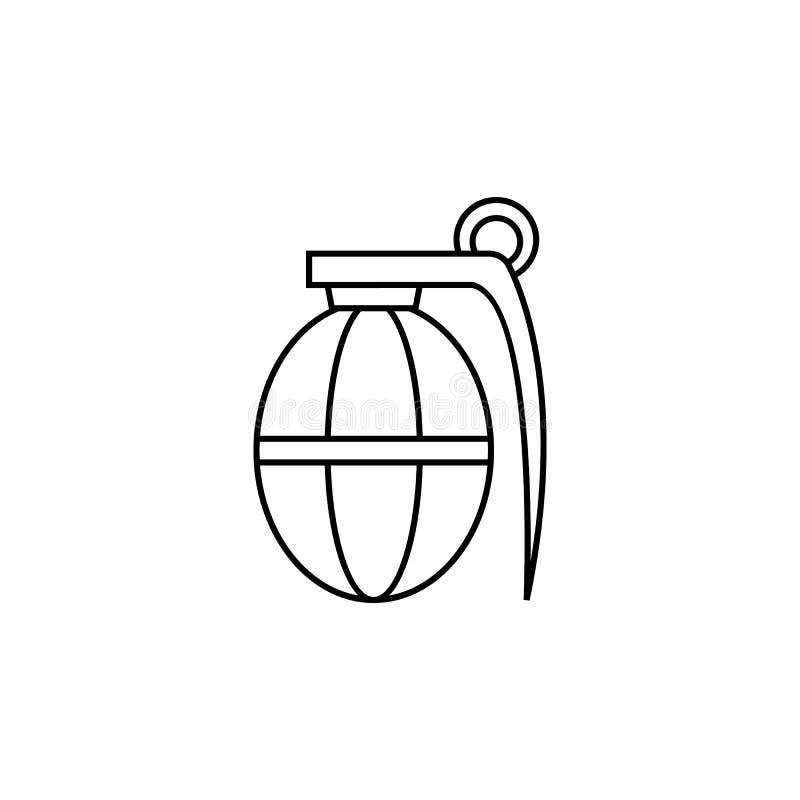 Ligne icône de grenade à main illustration libre de droits