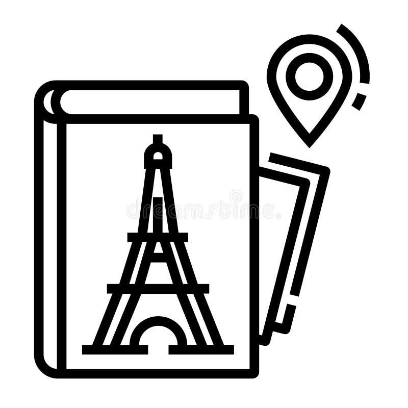 Ligne icône de guide illustration libre de droits