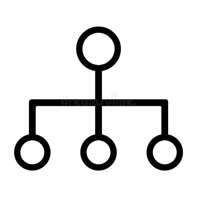 Ligne icône de hiérarchie de commandements illustration stock