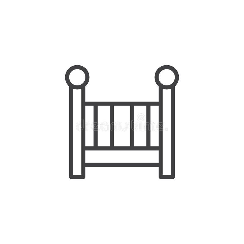 Ligne icône de huche illustration libre de droits