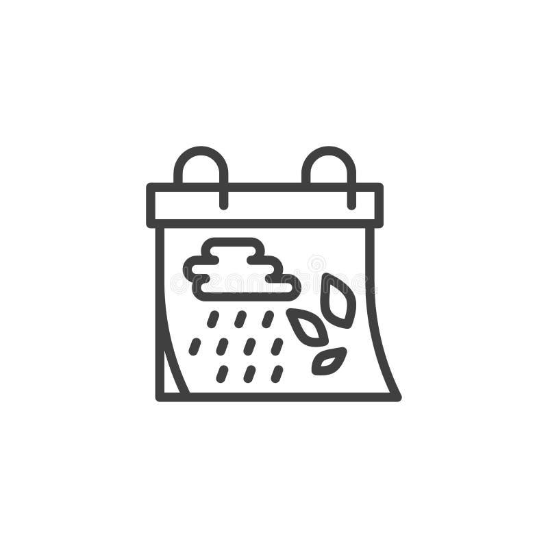 Ligne icône de jour civil d'automne illustration de vecteur