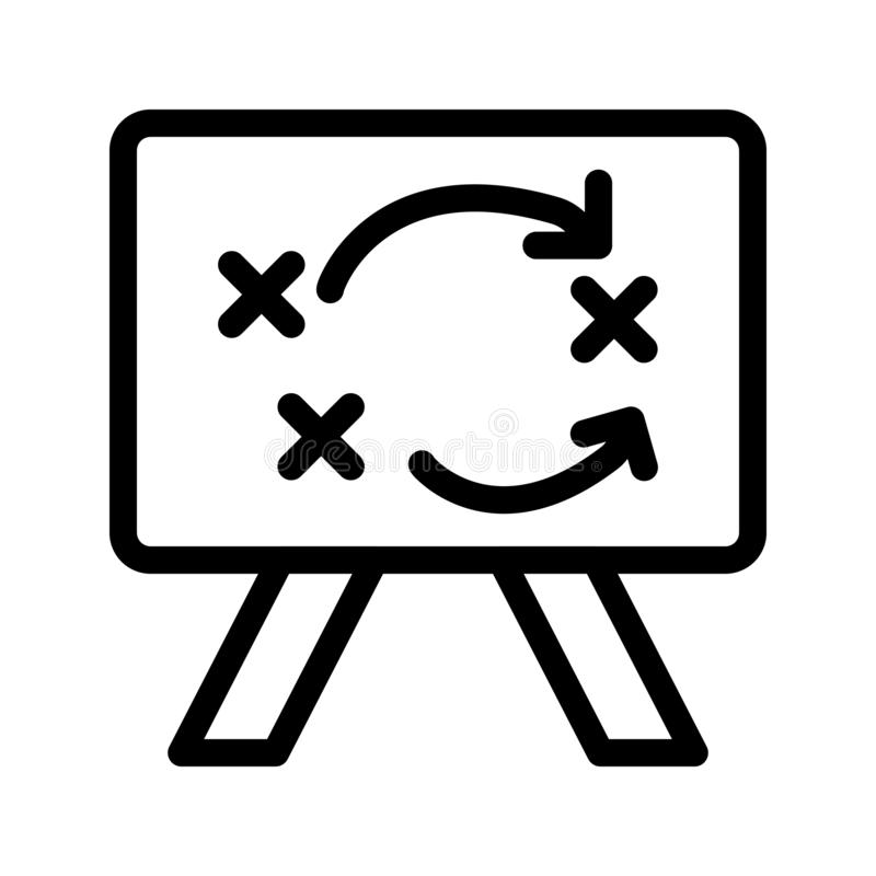Ligne icône de la tactique de vecteur illustration libre de droits