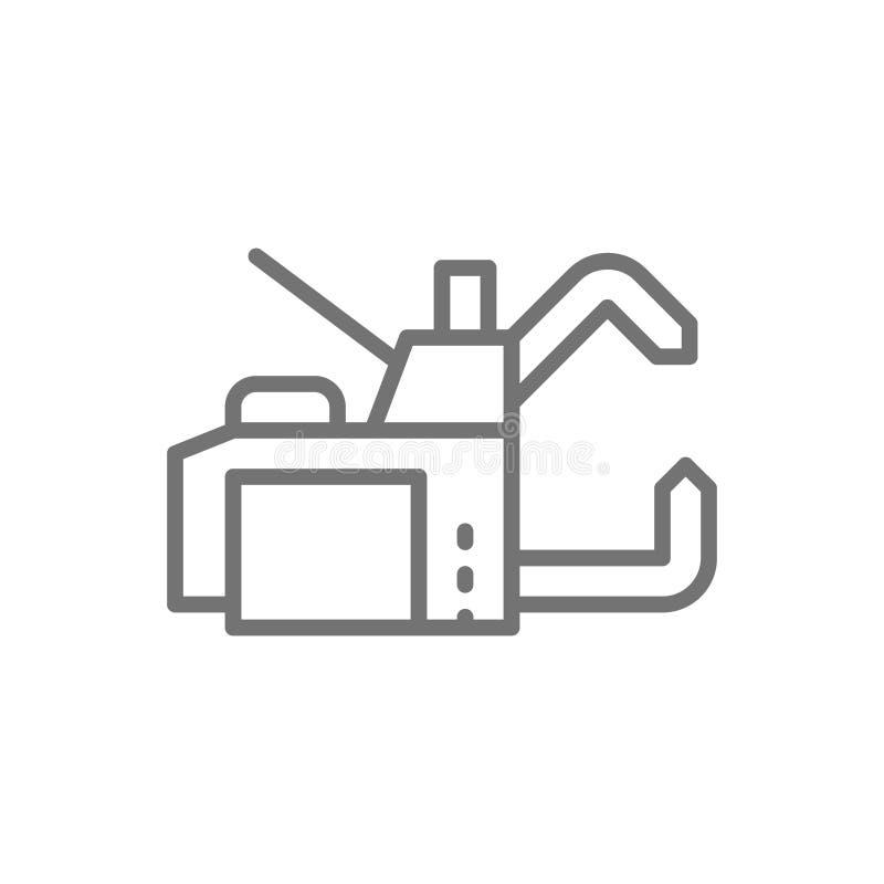 Ligne icône de machine de soudage par points illustration libre de droits