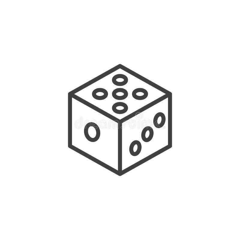 Ligne icône de matrices illustration libre de droits