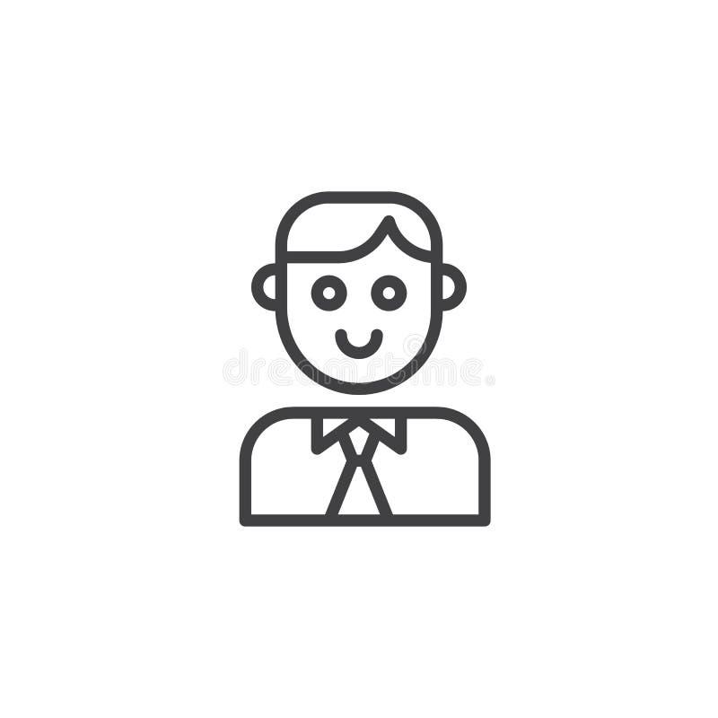 Ligne icône de père illustration de vecteur