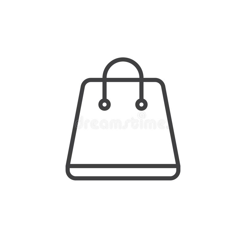 Ligne icône de panier illustration stock