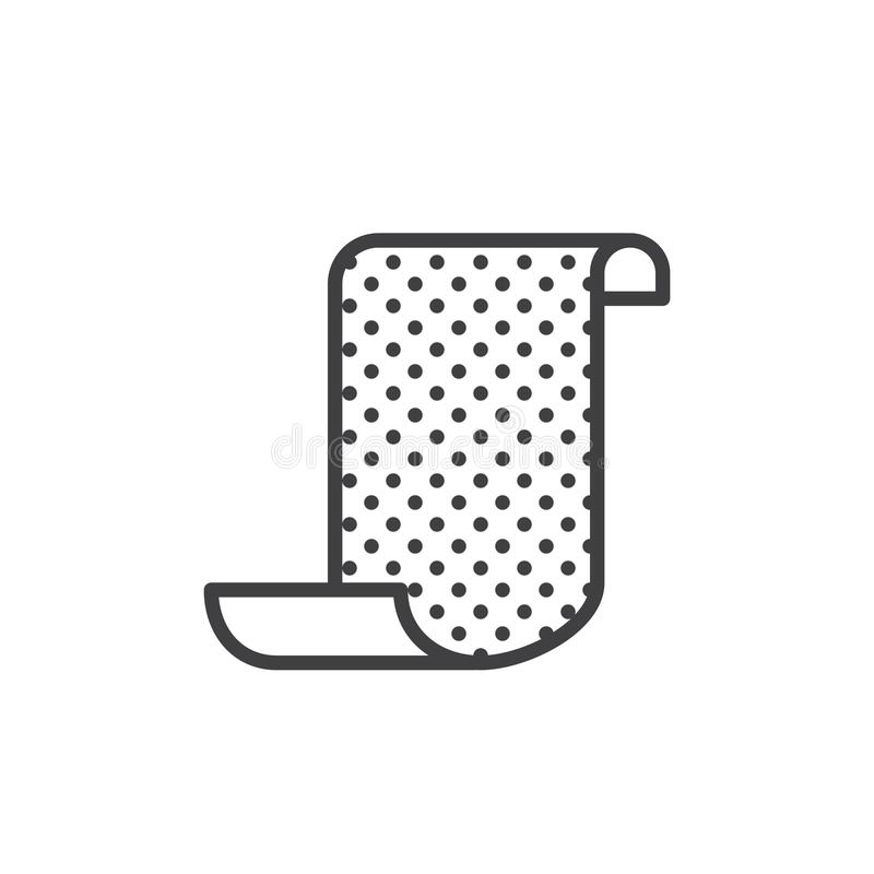 Ligne icône de papier sablé illustration de vecteur