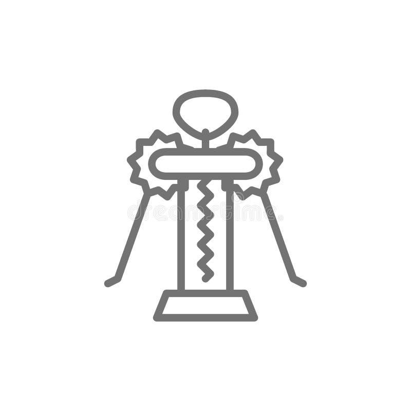 Ligne icône de papillon de tire-bouchon illustration libre de droits
