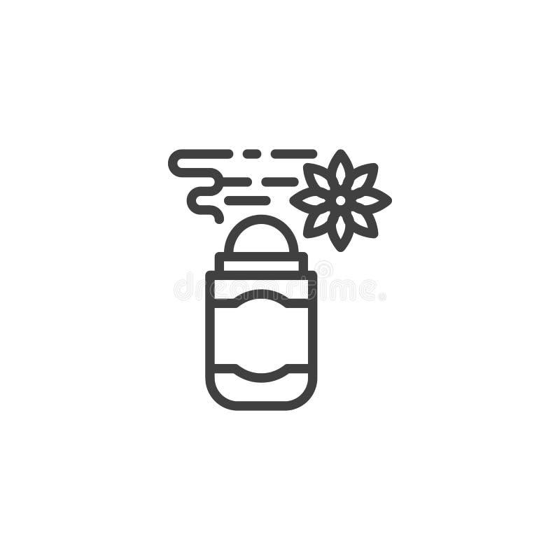 Ligne icône de parfum d'ambiance illustration de vecteur