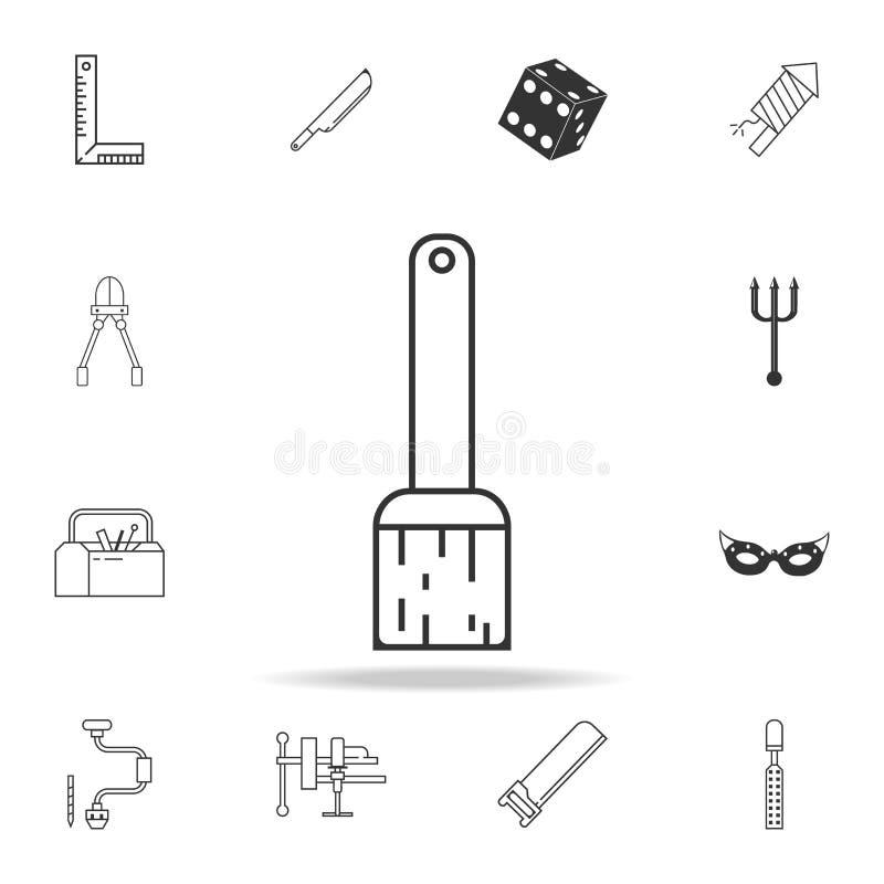 Ligne icône de pinceau Ensemble détaillé d'icônes et de signes de Web Conception graphique de la meilleure qualité Une des icônes illustration de vecteur