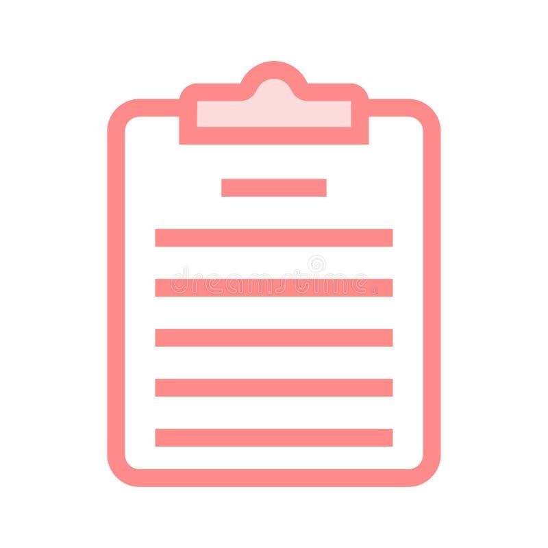Ligne icône de presse-papiers illustration de vecteur