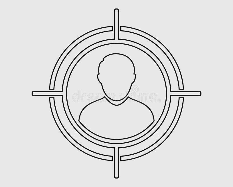 Ligne icône de public cible illustration libre de droits