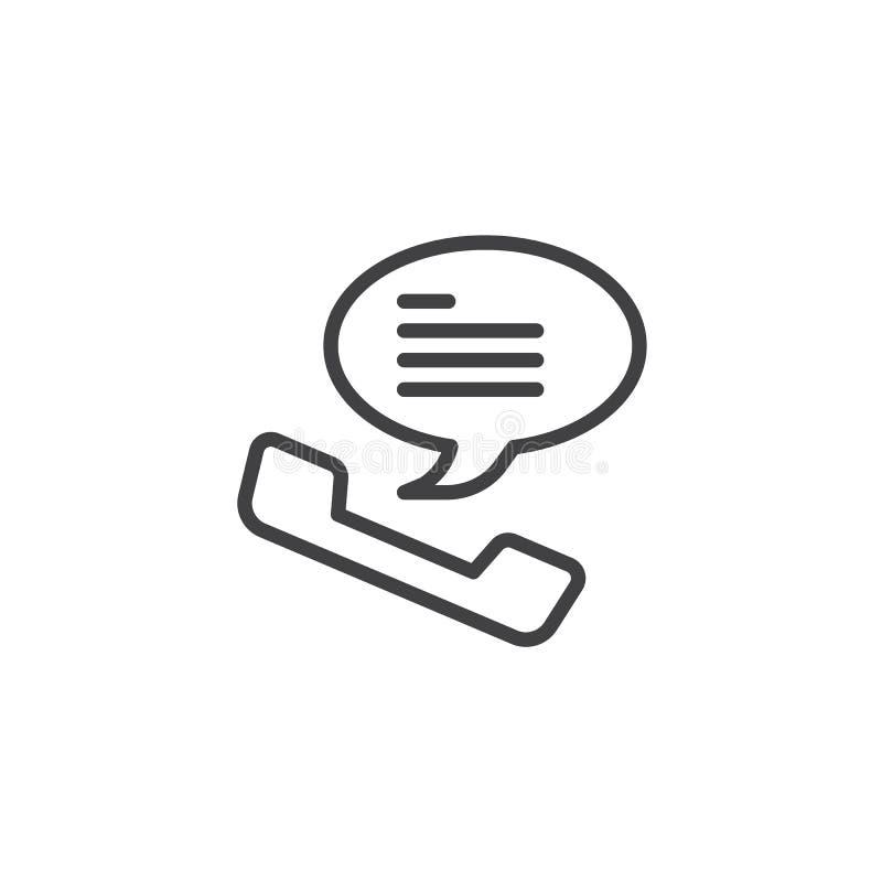Ligne icône de récepteur téléphonique illustration de vecteur