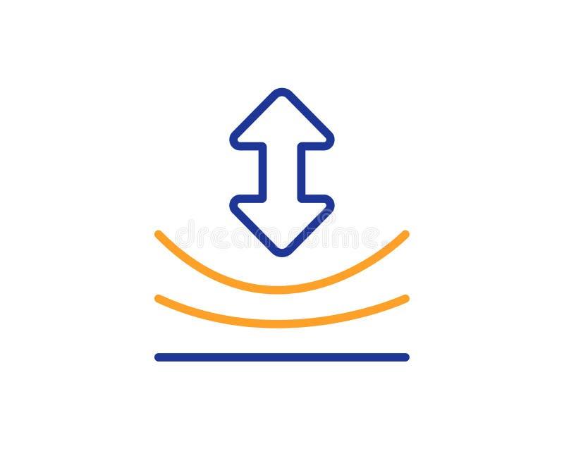 Ligne icône de résilience Signe matériel élastique Vecteur illustration stock