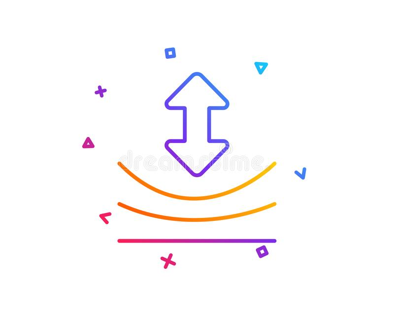 Ligne icône de résilience Signe matériel élastique Vecteur illustration libre de droits
