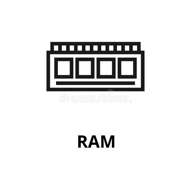 Ligne icône de Ram illustration de vecteur