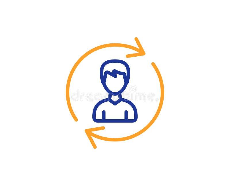 Ligne icône de ressources humaines Signe de profil d'utilisateur Vecteur illustration stock