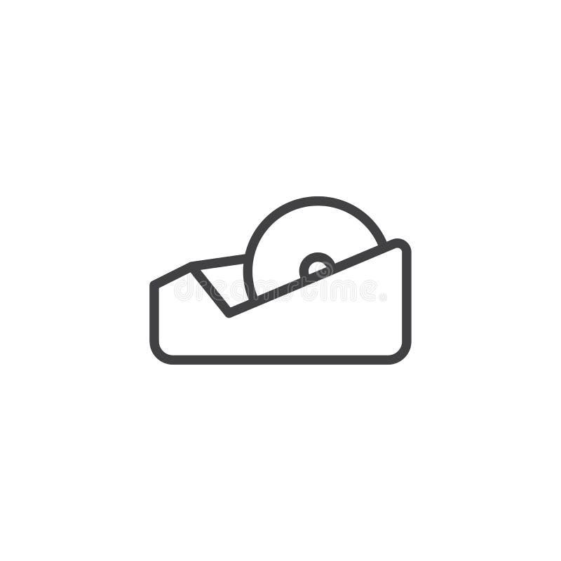 Ligne icône de ruban adhésif illustration stock