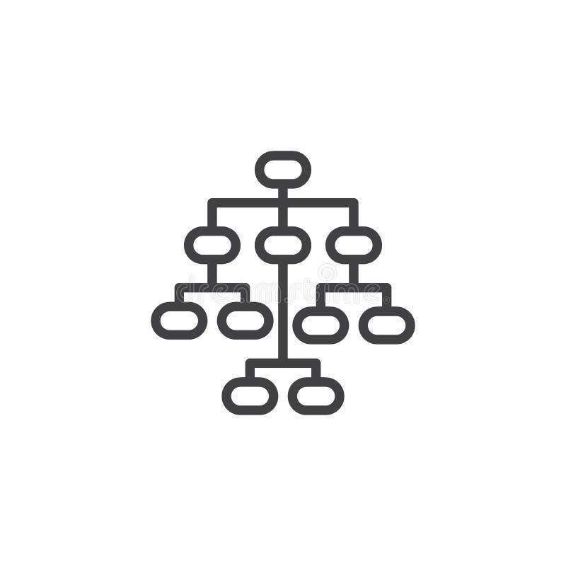Ligne icône de Sitemap illustration stock