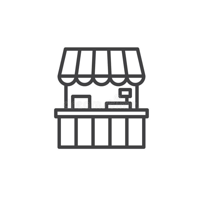 Ligne icône de stalle de nourriture illustration libre de droits