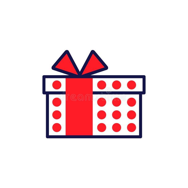 Ligne icône de style de cadeau Élément simple pour des cartes postales de célébration de conception illustration stock