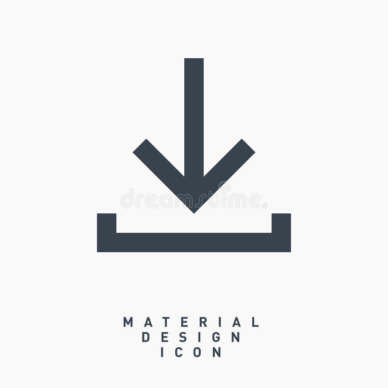 Ligne icône de symbole de flèche de téléchargement de vecteur images libres de droits