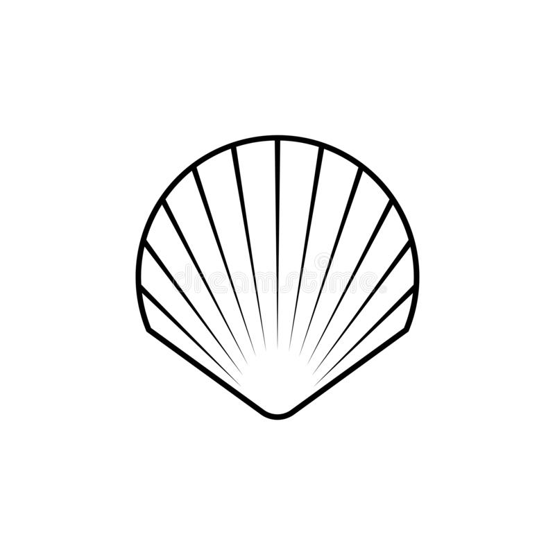 Ligne icône de symbole, logo de Shell photos libres de droits