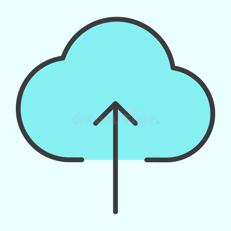 Ligne icône de téléchargement de nuage Pictogramme 96x96 minimal simple de vecteur illustration de vecteur