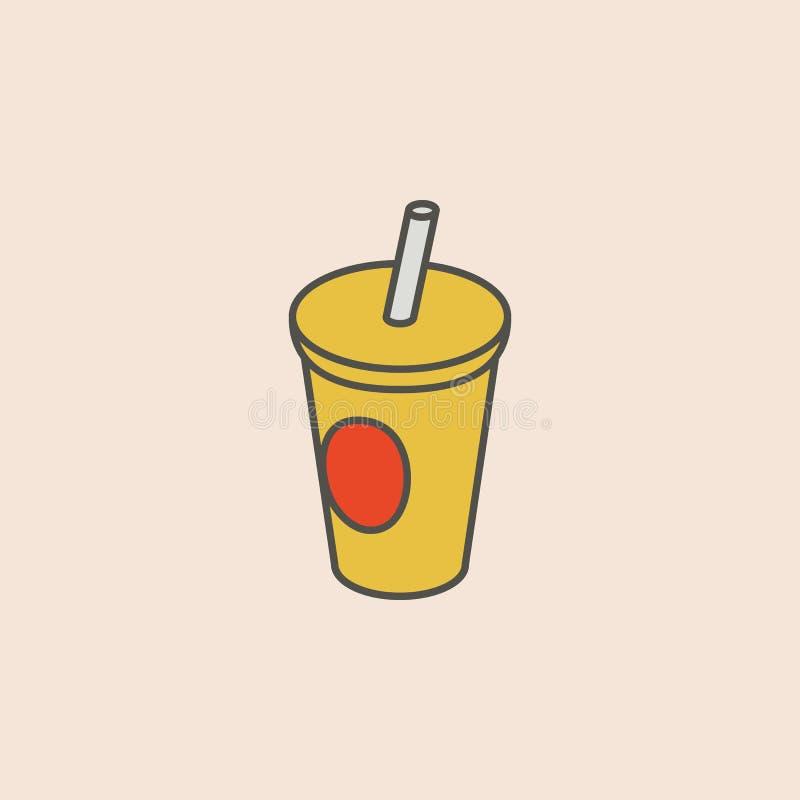 ligne icône de tasse de kola Élément d'icône d'aliments de préparation rapide pour les apps mobiles de concept et de Web La ligne illustration stock